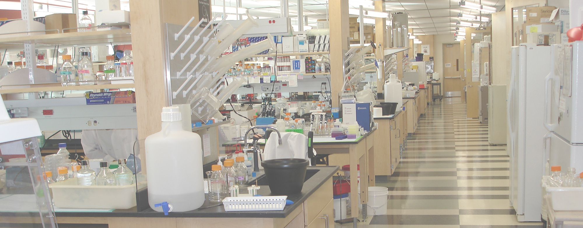 A reseach lab with equipment and tools
